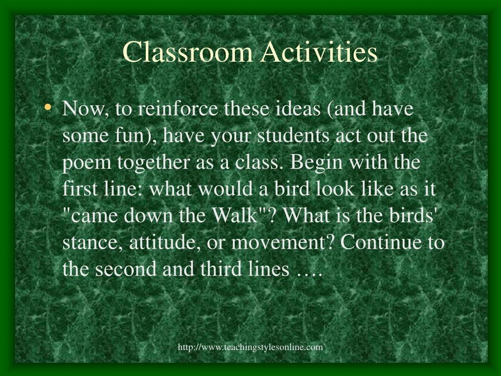 Classroom Activities