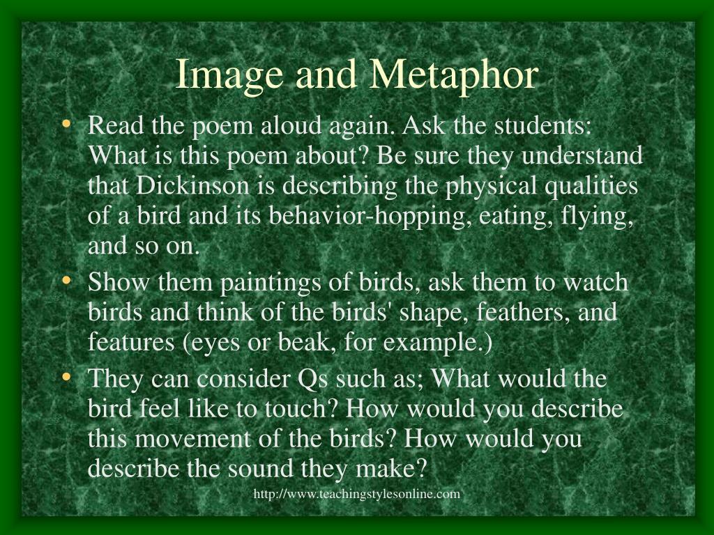 Image and Metaphor