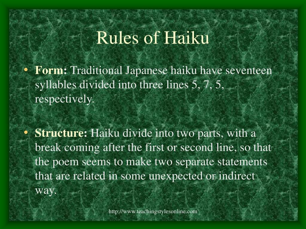 Rules of Haiku
