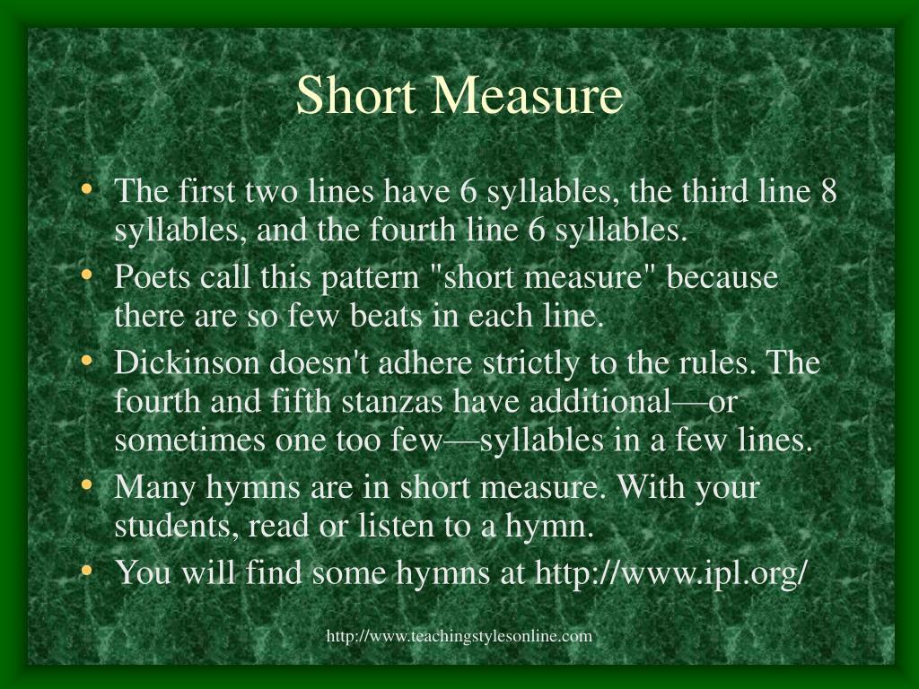 Short Measure