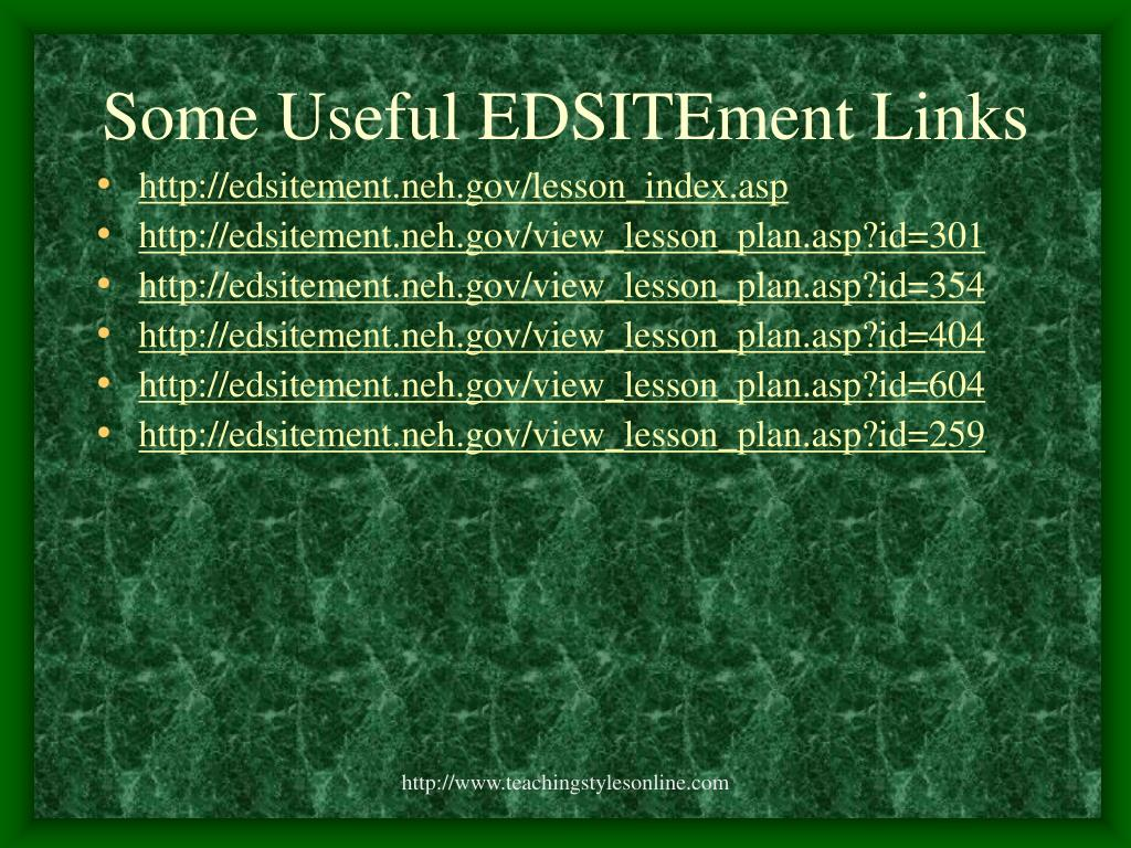 Some Useful EDSITEment Links