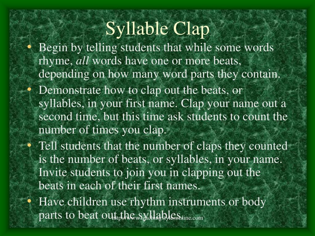 Syllable Clap