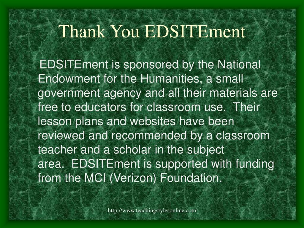 Thank You EDSITEment