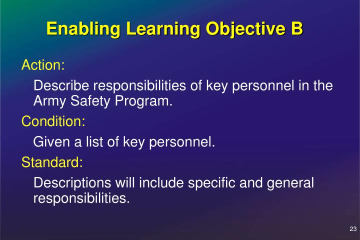 Enabling Learning Objective B