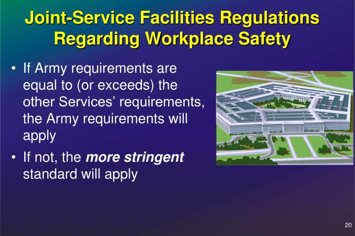 Joint-Service Facilities Regulations