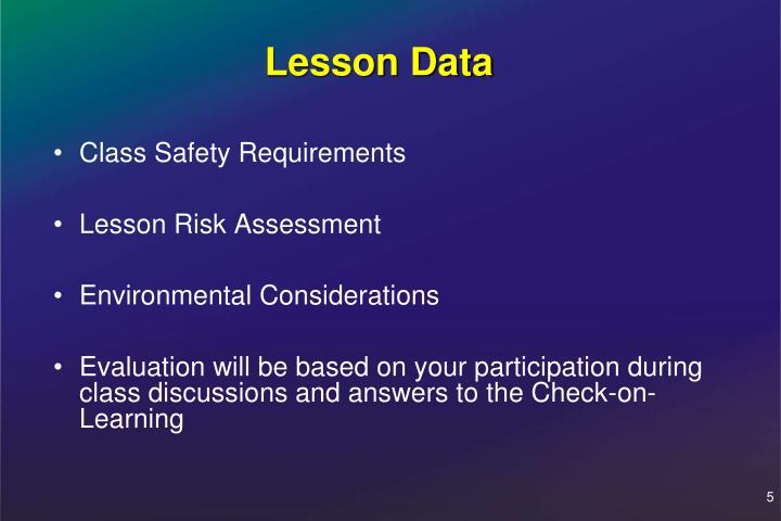 Class Safety Requirements
