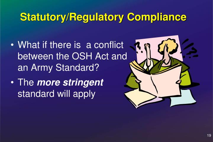 Statutory/Regulatory Compliance