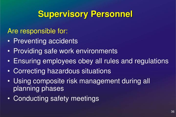 Supervisory Personnel