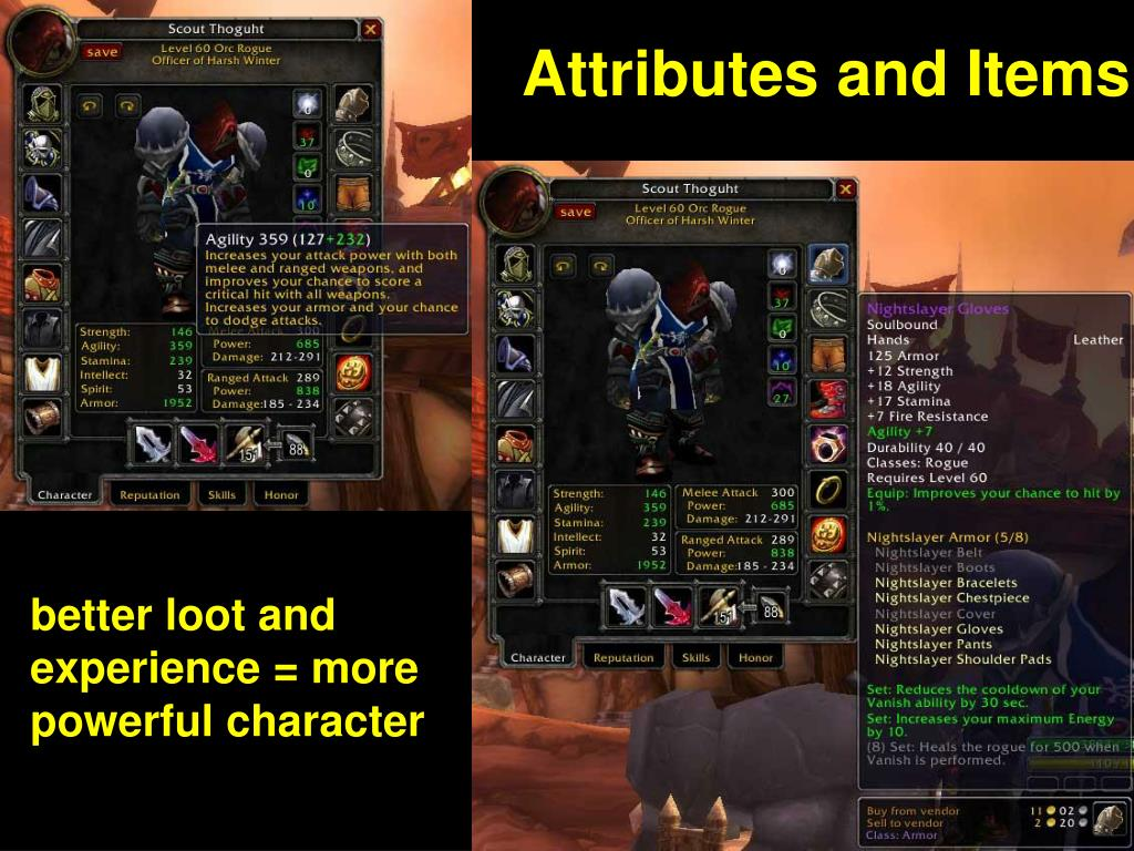 Attributes and Items