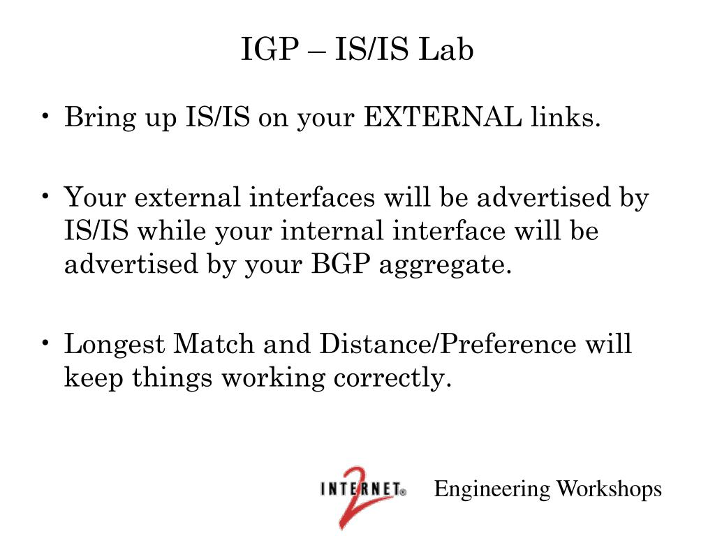 IGP – IS/IS Lab