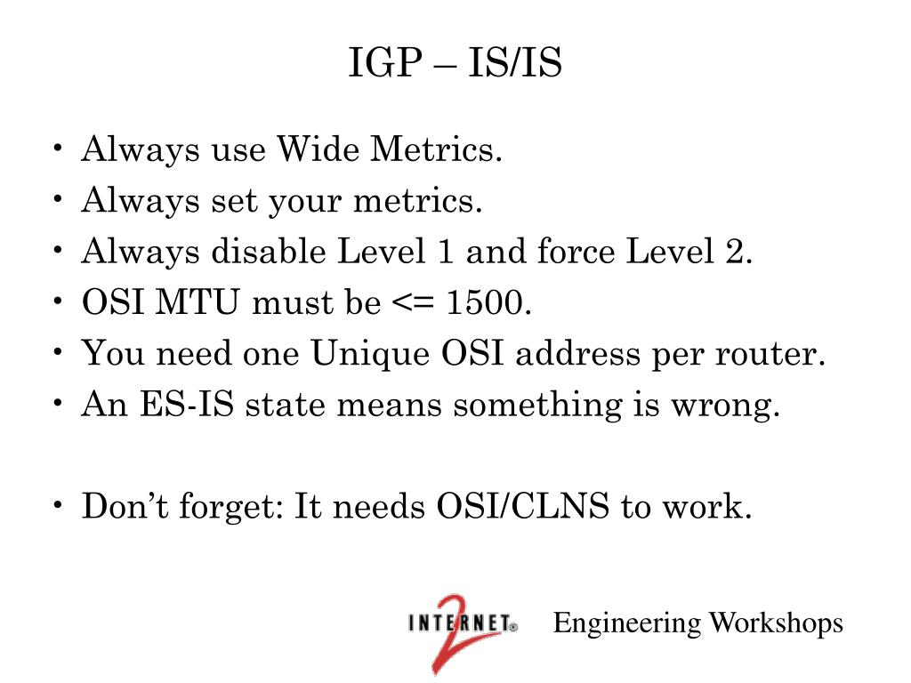 IGP – IS/IS