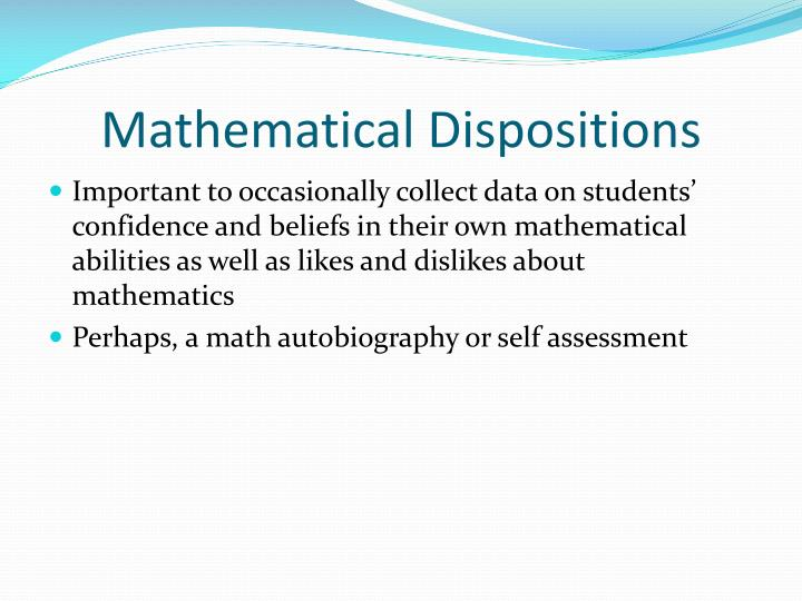 Mathematical Dispositions