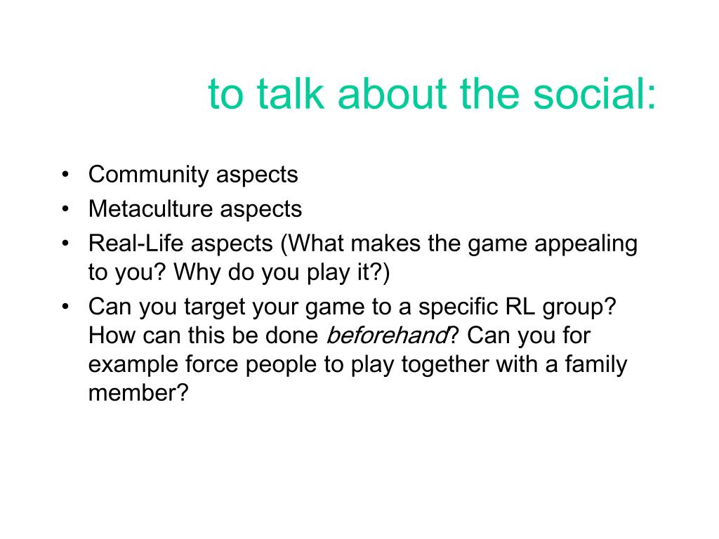 to talk about the social: