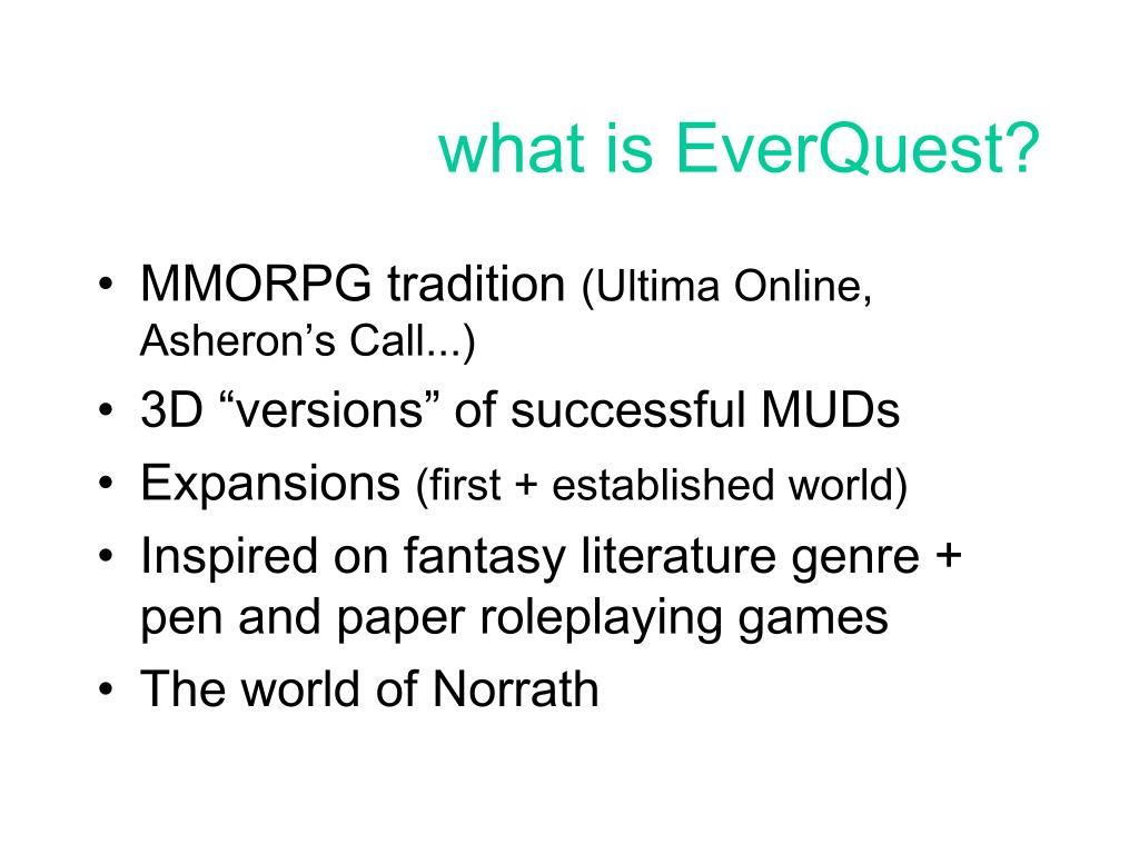 what is EverQuest?