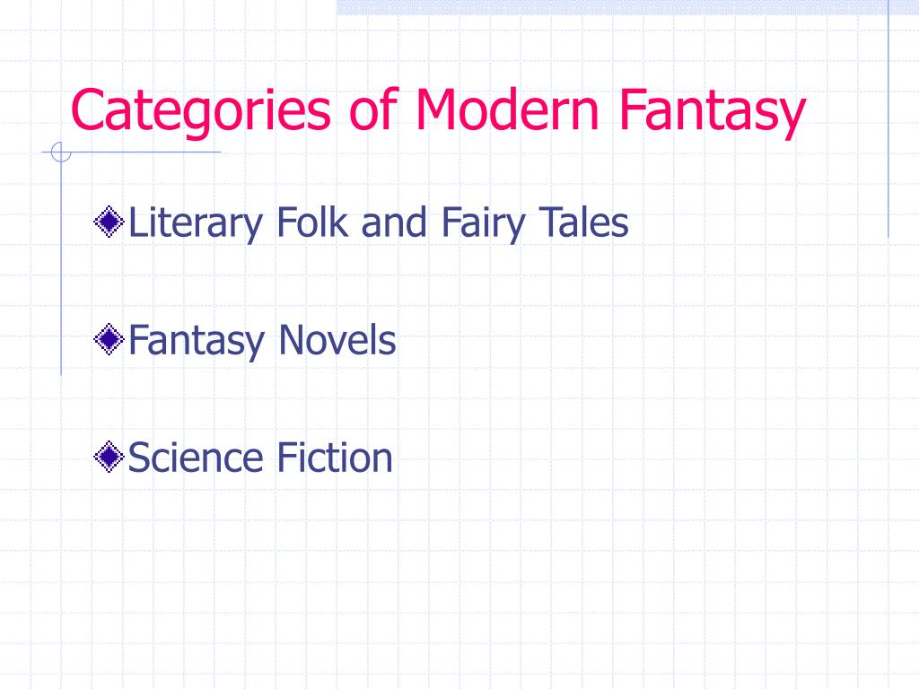 Categories of Modern Fantasy