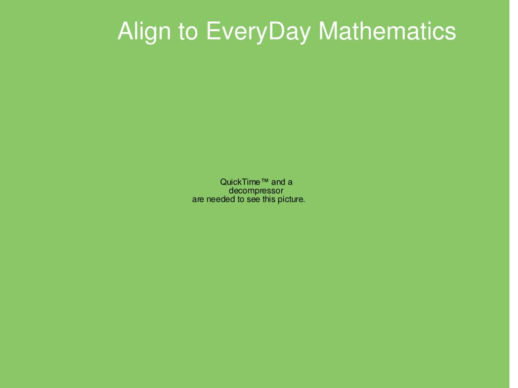 Align to EveryDay Mathematics
