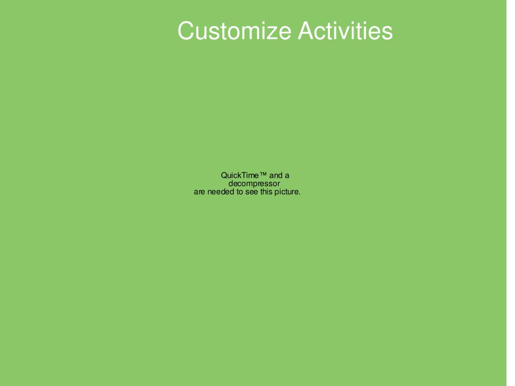 Customize Activities