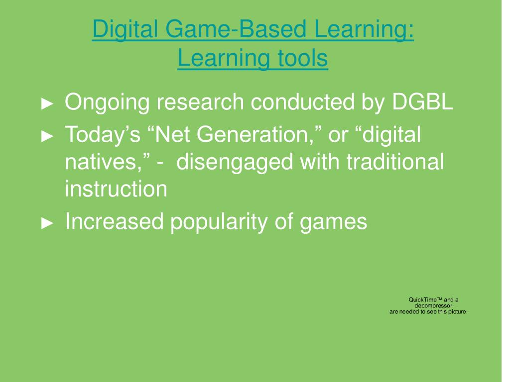 Digital Game-Based Learning: