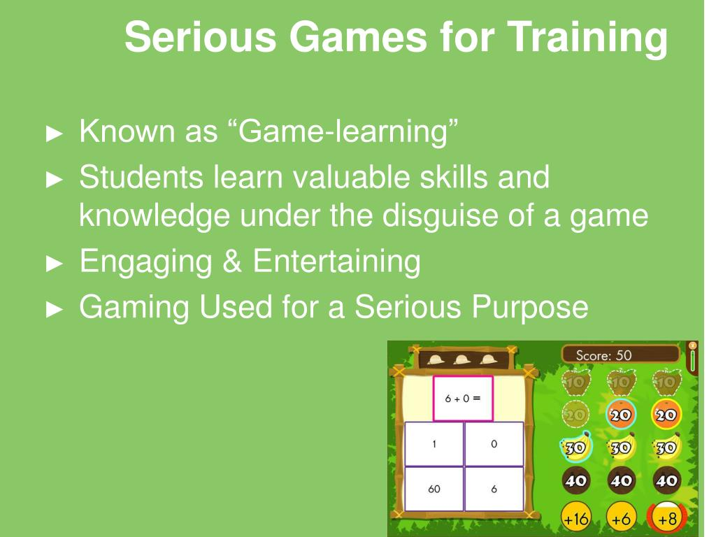 Serious Games for Training