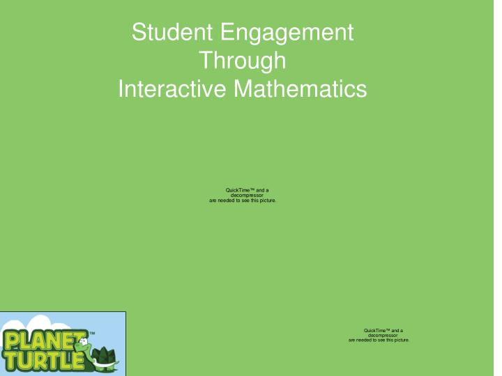 Student engagement through interactive mathematics