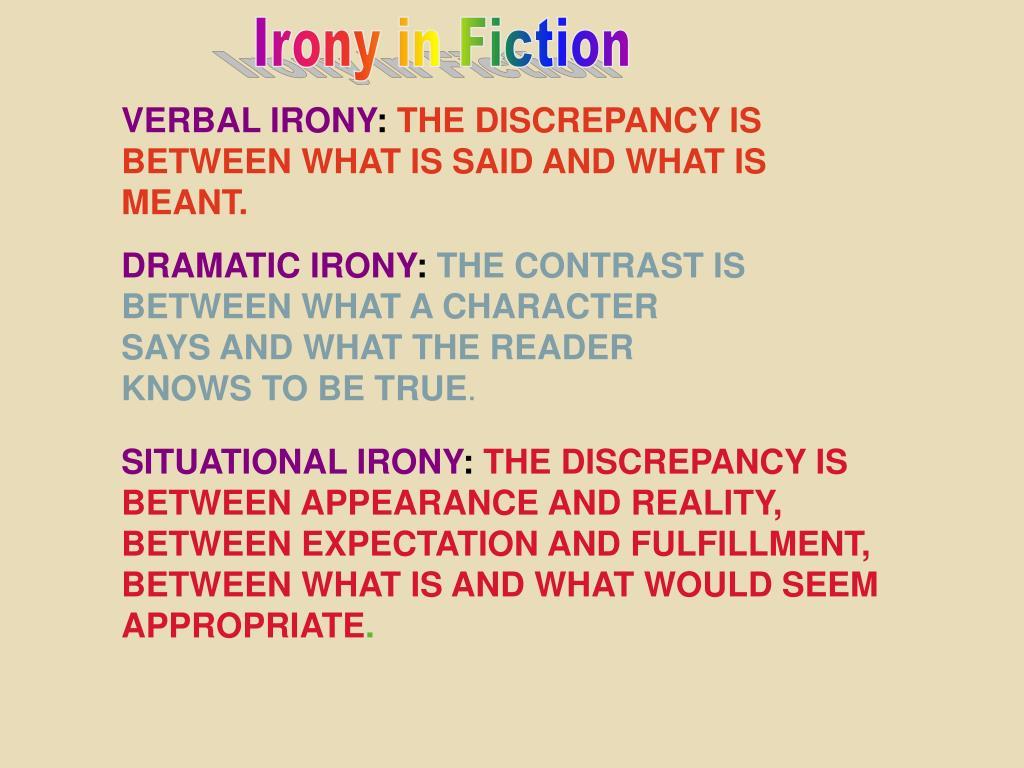 Irony in Fiction