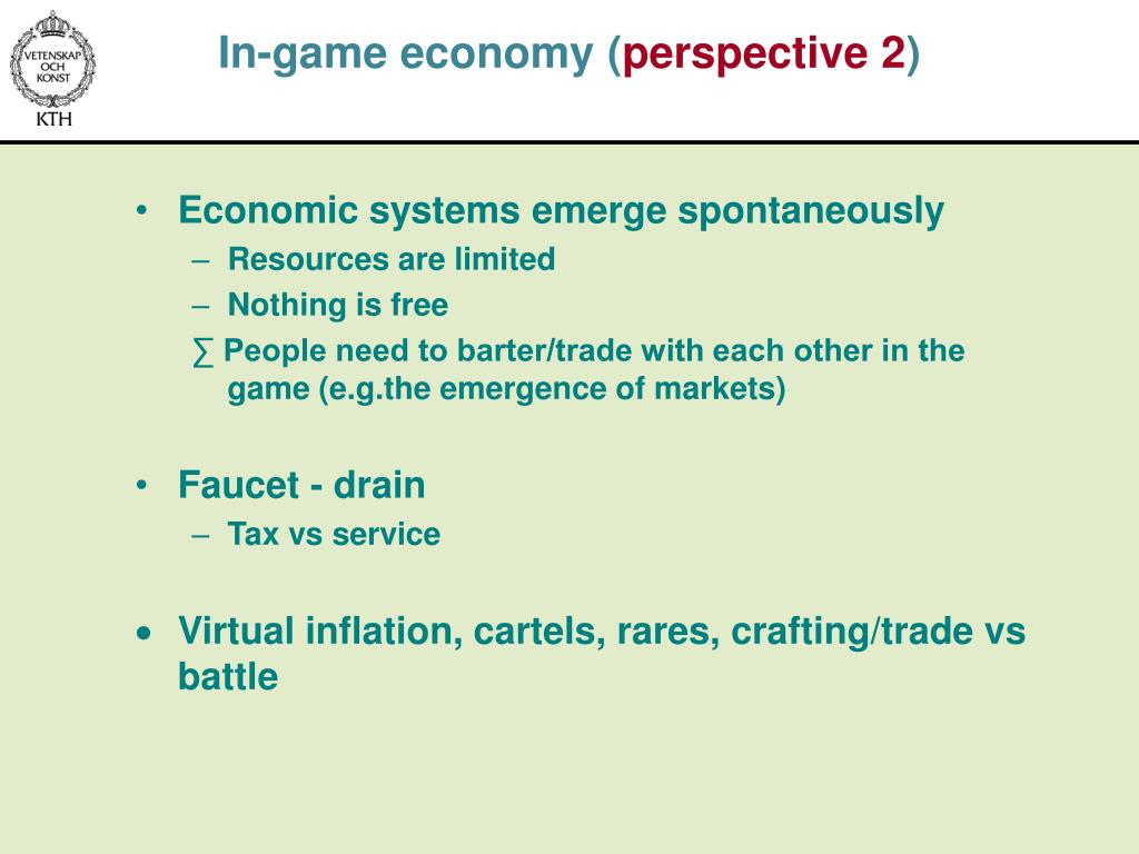In-game economy (