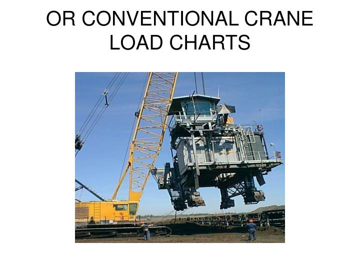OR CONVENTIONAL CRANE LOAD CHARTS