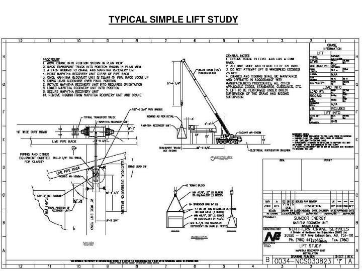 TYPICAL SIMPLE LIFT STUDY