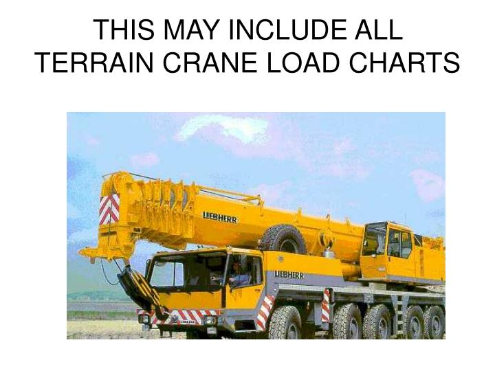 THIS MAY INCLUDE ALL TERRAIN CRANE LOAD CHARTS