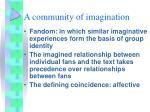a community of imagination