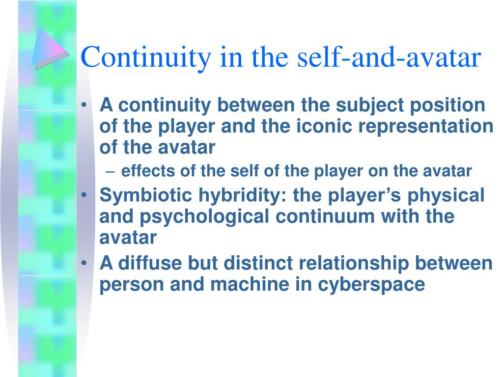 Continuity in the self-and-avatar