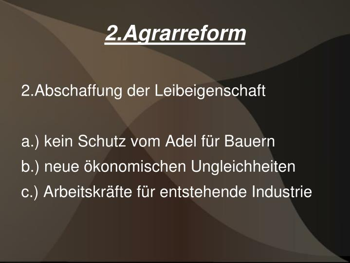 2.Agrarreform