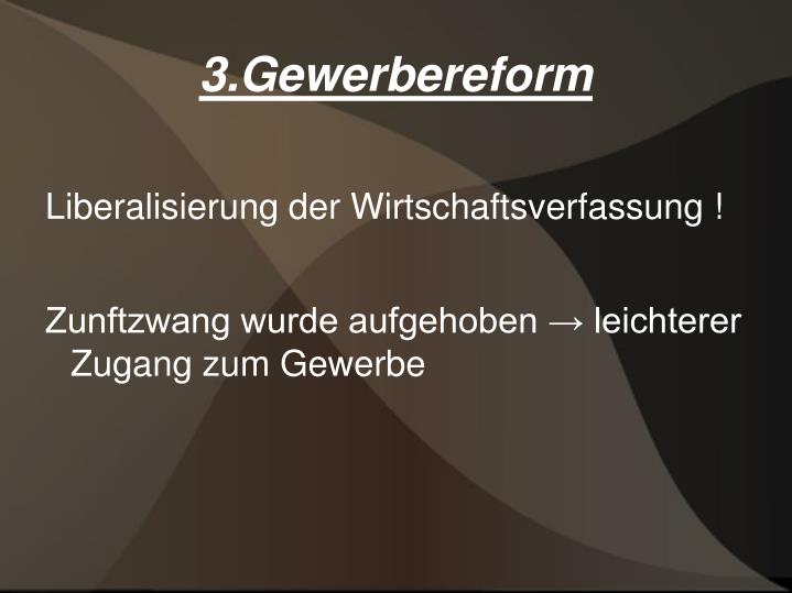 3.Gewerbereform