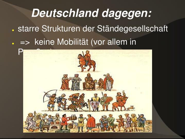 Deutschland dagegen:
