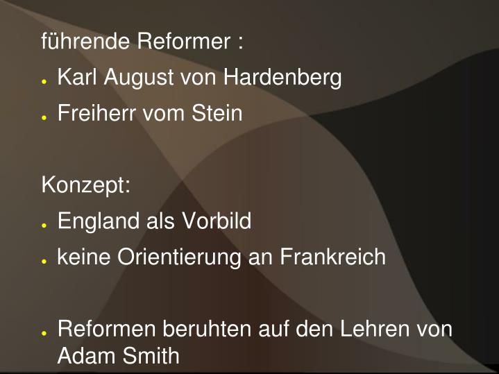 führende Reformer :