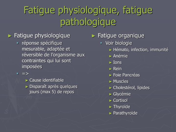 Fatigue physiologique