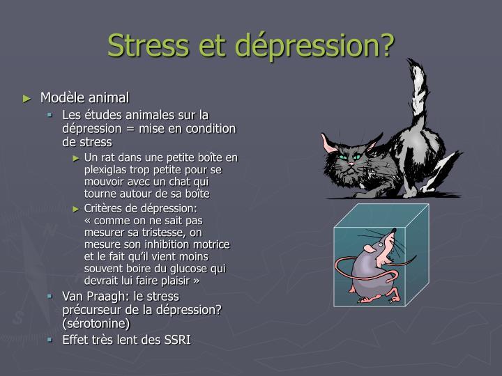 Stress et dépression?