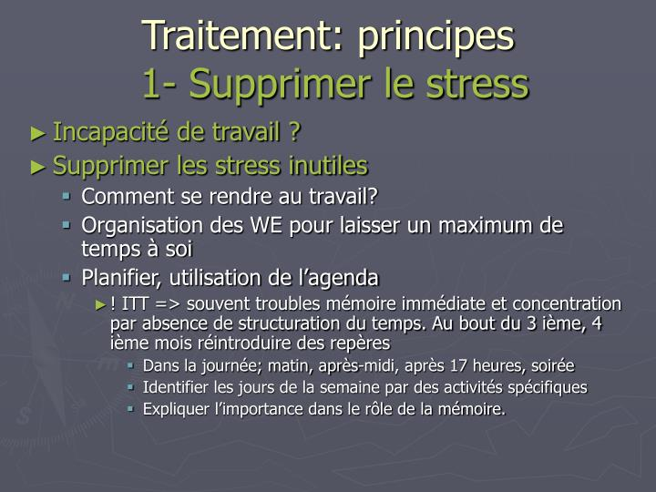 Traitement: principes