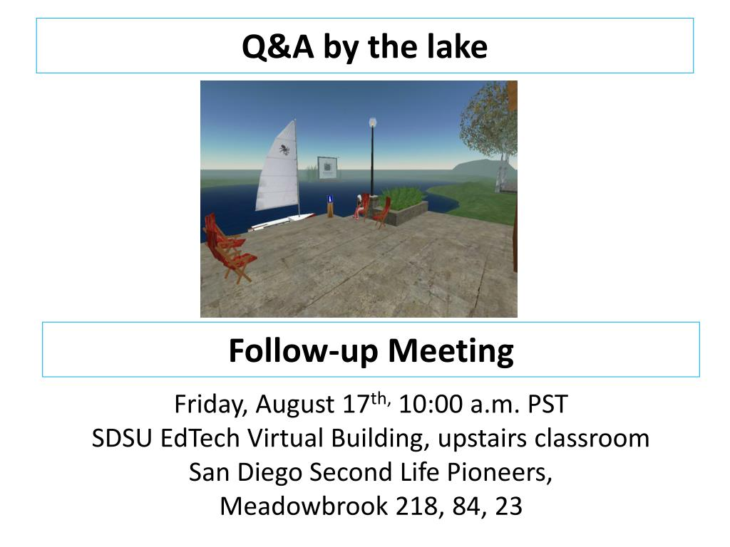Q&A by the lake