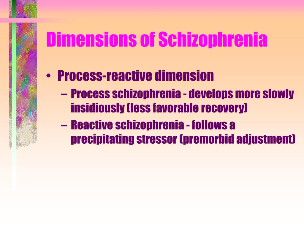 Dimensions of Schizophrenia