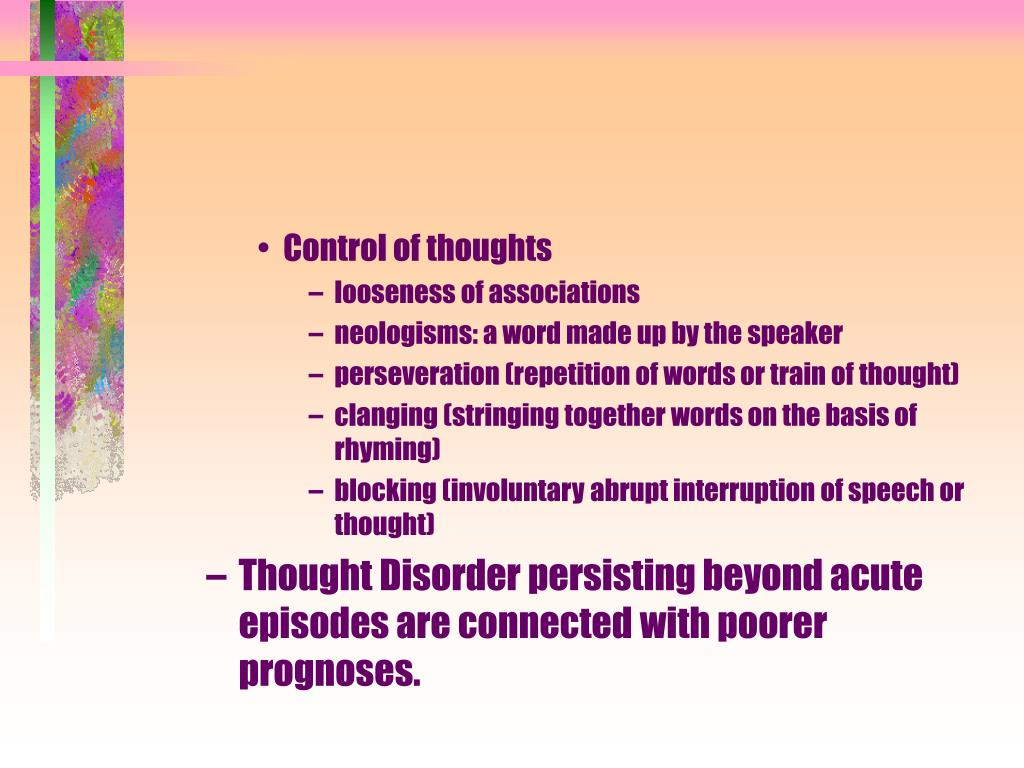 Control of thoughts