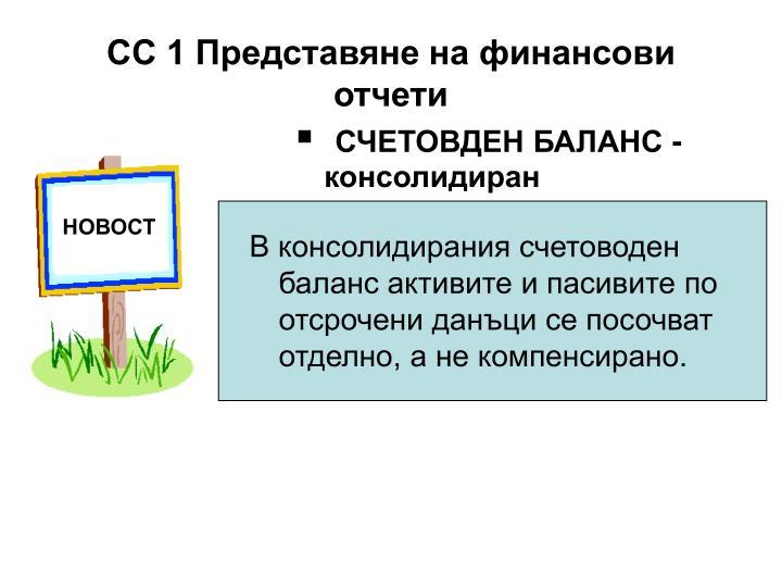 СЧЕТОВДЕН БАЛАНС - консолидиран