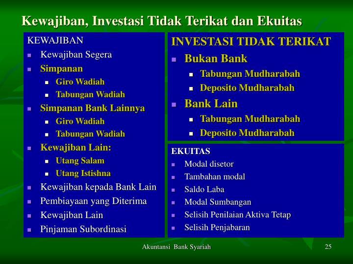 Kewajiban, Investasi Tidak Terikat dan Ekuitas
