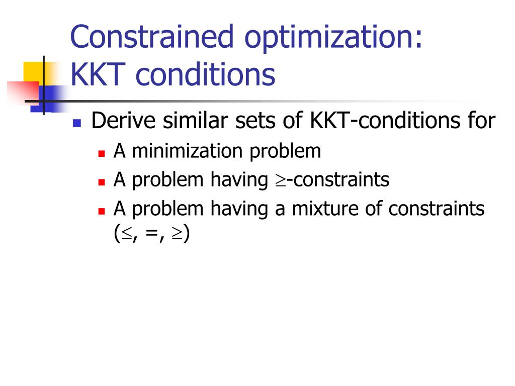 Constrained optimization: