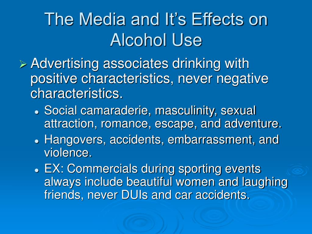 The Media and It's Effects on Alcohol Use