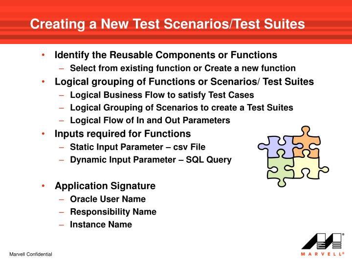 Creating a New Test Scenarios/Test Suites
