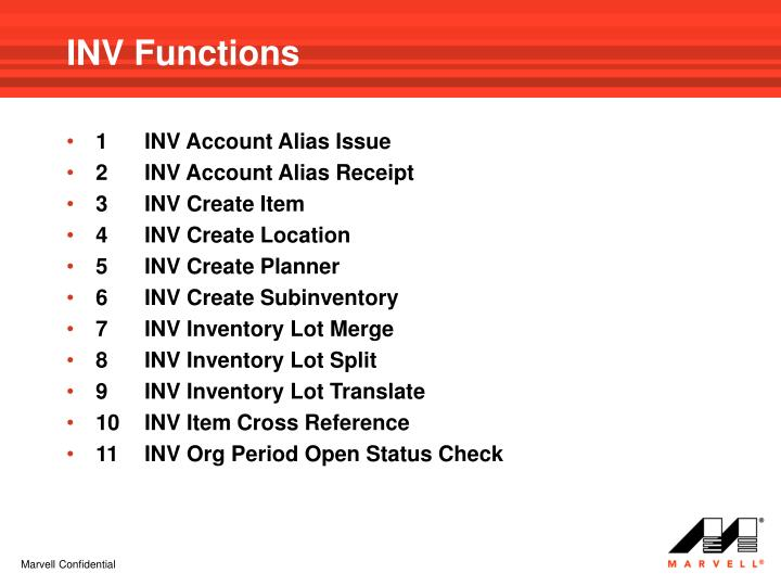 INV Functions