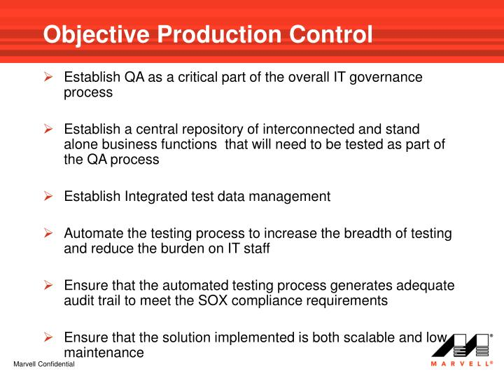 Objective Production Control