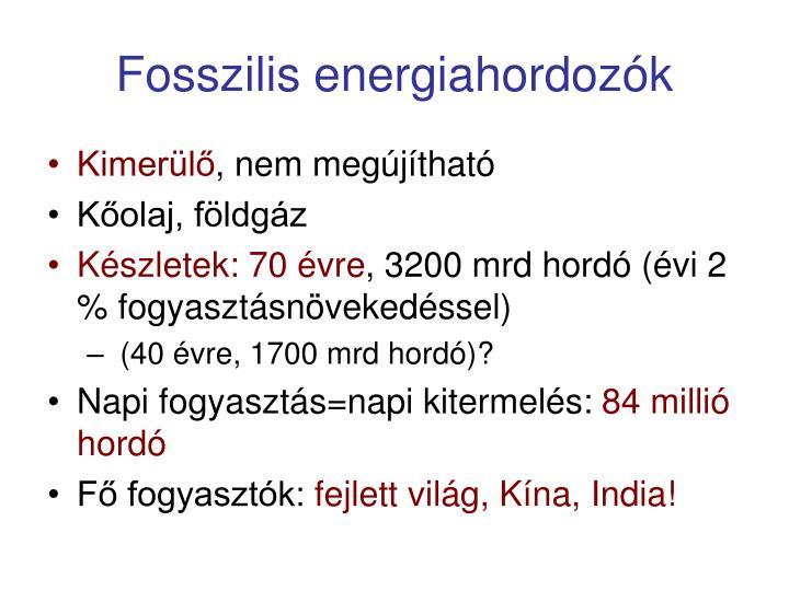 Fosszilis energiahordozók