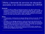 oferta y demanda de servicios de educaci n asociados a las condicionalidades de juntos